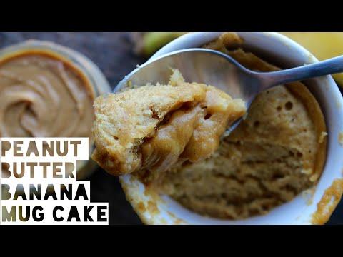 Healthy Mug Cake Recipe | 1 Minute Peanut Butter And Banana Mug Cake