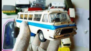 Про машинки. Открываю коробку с машинками модели микроавтобусов масштаб 1/43. Распаковка и обзор.