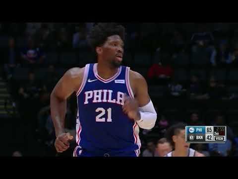 Joel Embiid Erupts In His Philadelphia 76er's Preseason Debut | October 11th, 2017