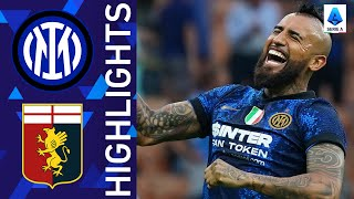 Inter 4 0 Genoa Inter kick off title defence with emphatic win Serie A 2021 22