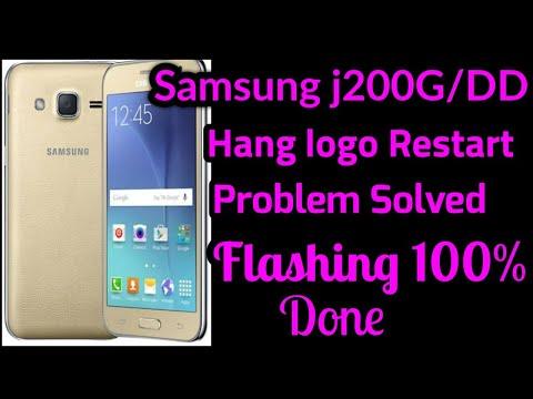 samsung-j200g/dd-hang-logo-restart-problem-solved-flashing-100%-done-|-samsung-j200g-flashing-done