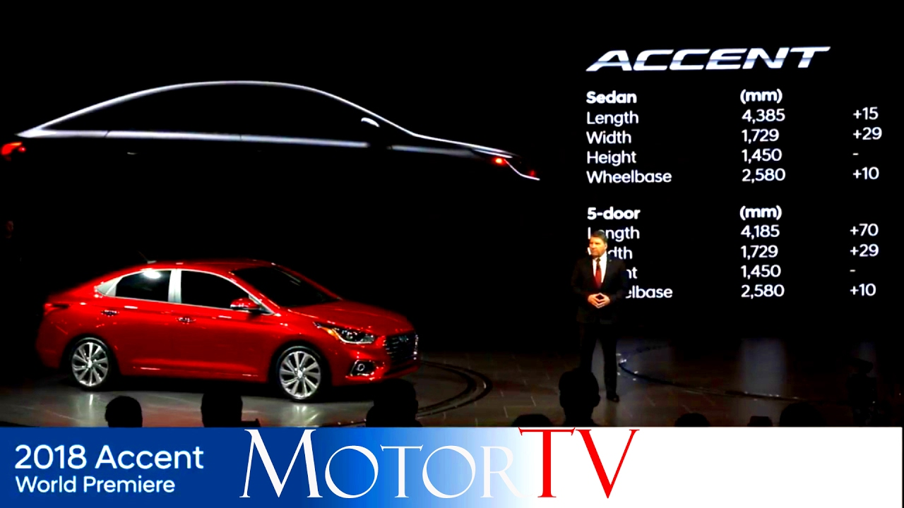 2018 hyundai accent.  accent new 2018 hyundai accent reveal l world premiere to hyundai accent