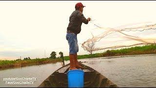 Quăng Chài Bắt Cá Được Luôn 2 Con Gà Trên 100 kg ☆ Góc Chia Sẻ