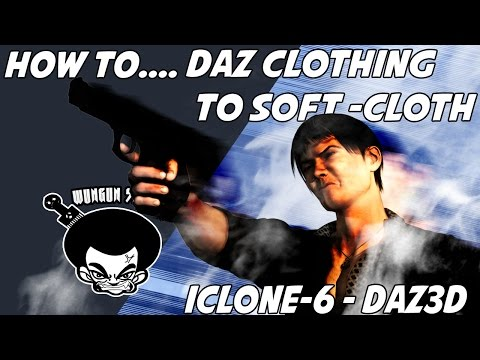 Howto: Making Daz clothing into softcloth in Iclone.