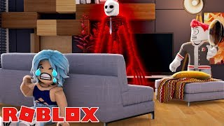 THE KILLER VISITS OUR PARTY IN ROBLOX!