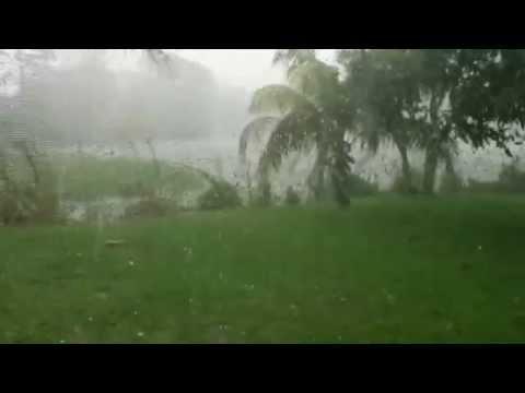 Hail 4-27-15 Stuart, Florida