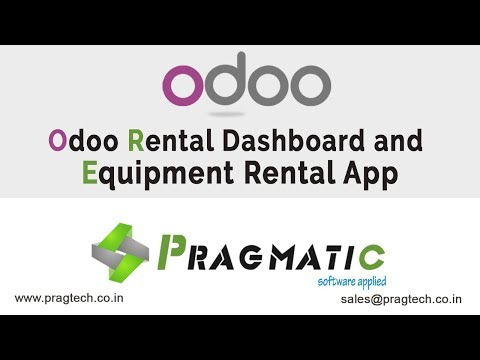 Odoo Rental Dashboard And Equipement Rental APP
