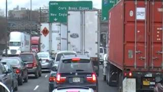 Driving Truck in New York Traffic Jam on the George Washington Bridge and CB Idiots