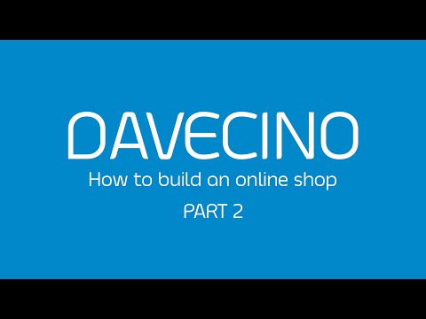 DAVECINO BUILD AN ONLINE SHOP (part2)
