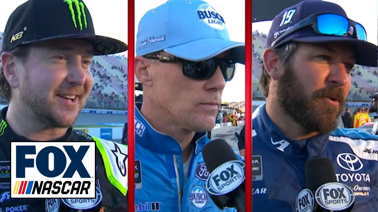 Kurt Busch, Martin Truex Jr. & Kevin Harvick comment on strong runs in Michigan | NASCAR on FOX