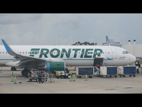 Frontier Airlines A320 Landing in MCO!
