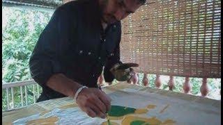 mural paintings on saree