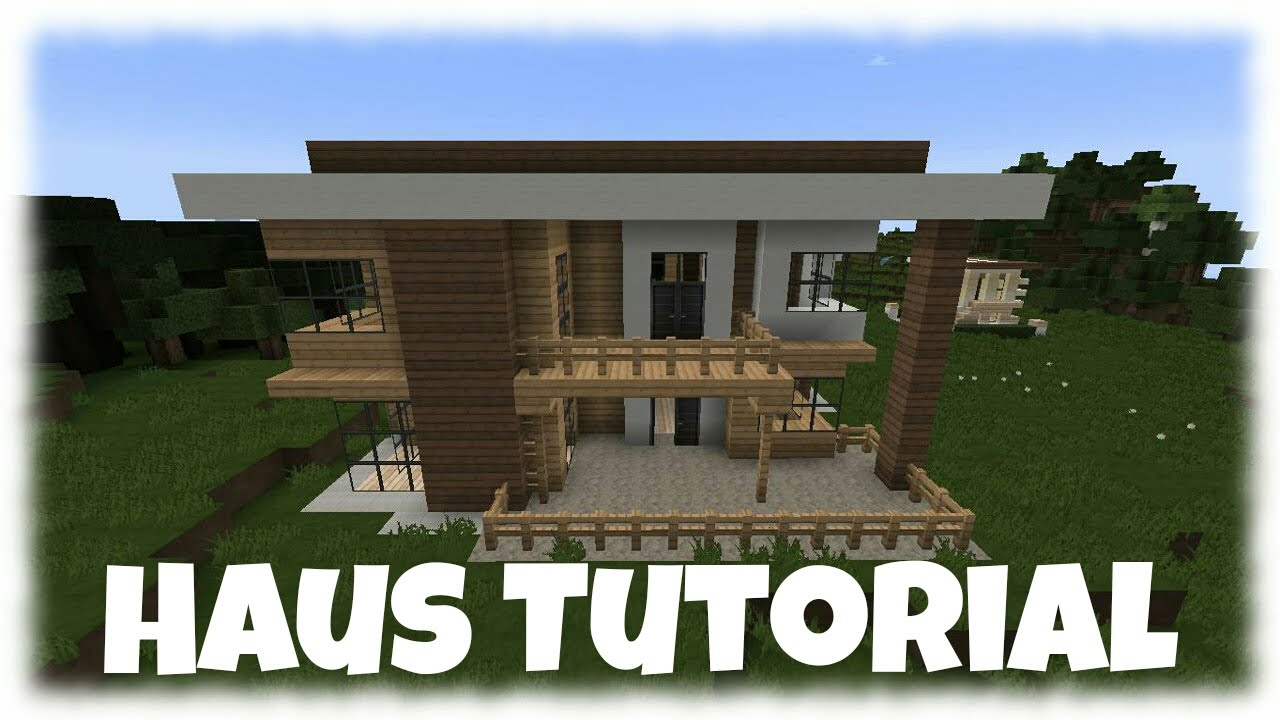 minecraft tutorial wie baue ich ein sch nes haus 9. Black Bedroom Furniture Sets. Home Design Ideas
