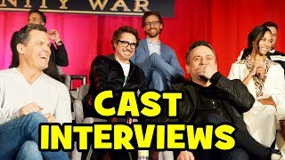 AVENGERS INFINITY WAR Press Conference - Robert Downey Jr, Chris Hemsworth, Benedict Cumberbatch