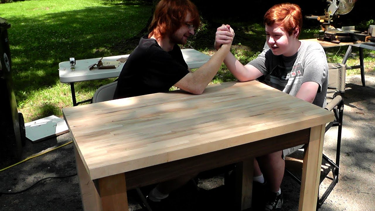 Building A Simple Table Desk Father Sons Memorial Day Project