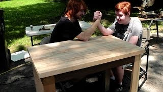 Building A Simple Table/desk - Father-sons Memorial Day Project
