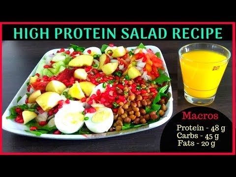 High-Protein Salad For Muscle Building| Simple Recipe | Protein 48 G