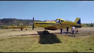 Aviones hidrantes en el incendio de Epuyén