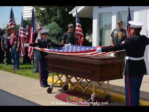 Military Funeral CPL Eugene (GENE) Whitehead US Marine, VIETNAM Combat Veteran