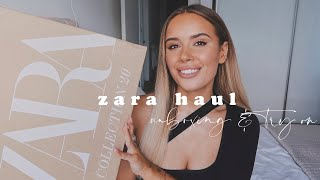 ZARA HAUL UNBOXING + TRY ON | Hello October