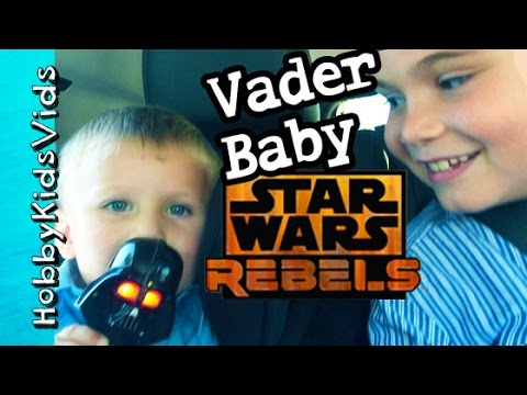 80a381b60e Star Wars Darth Vader Baby Chases HobbyKids in Curtain Maze! Bed Bath  Beyond HobbyKidsVids - YouTube