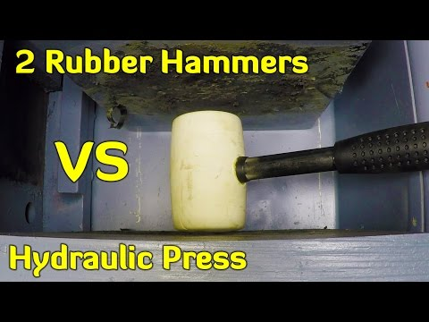 Thumbnail: 2 RUBBER HAMMERS vs HYDRAULIC PRESS