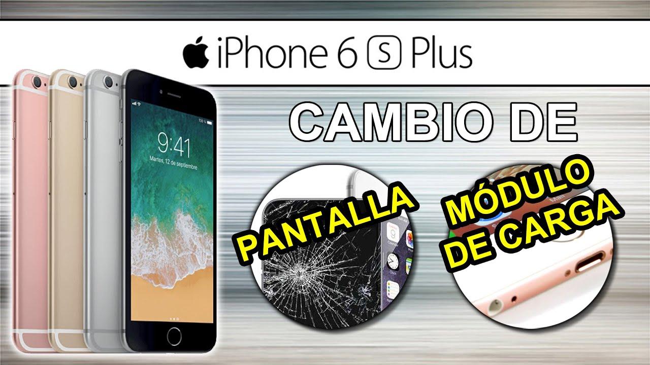 a914b2fdacd REPARACIÓN iPhone 6S Plus // Como cambiar PANTALLA, PUERTO DE CARGA,  MICRÓFONO y PUERTO JACK