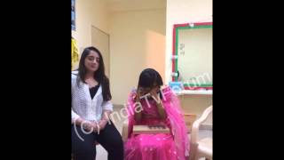 On the sets of Qubool Hai Surbhi Jyoti with her ardent fan and more