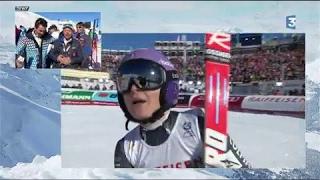 VIDÉO. La course de Tessa Worley, double championne du monde de slalom géant