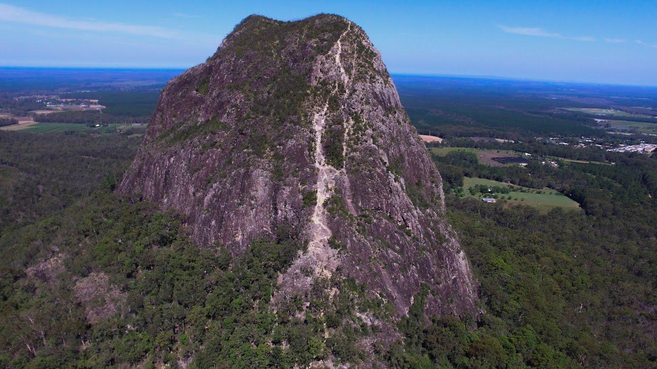 Mt Tibrogargan Climb Drone Footage Australia Glass House