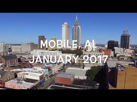 Downtown Mobile, AL Aerial Drone Footage