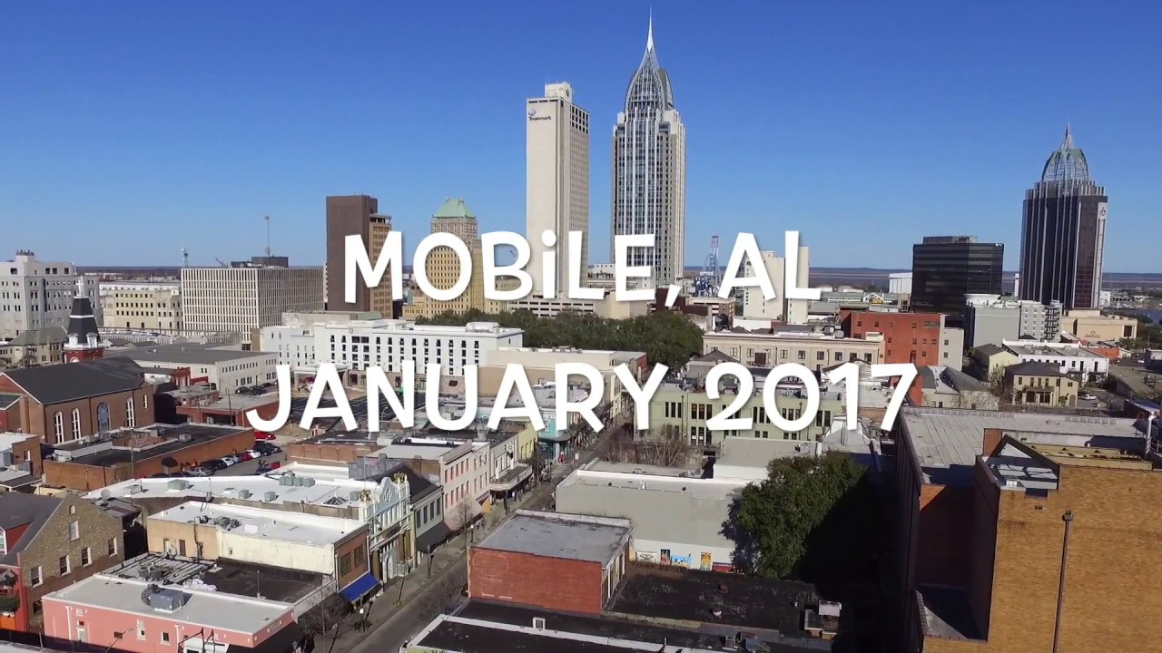 Mobil L Downtown Mobile, Alabama Aerial Drone Footage - Youtube