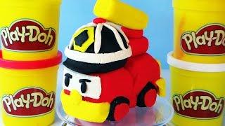 Play Doh Toy Robocar Roy - Robocar Poli Rescue team
