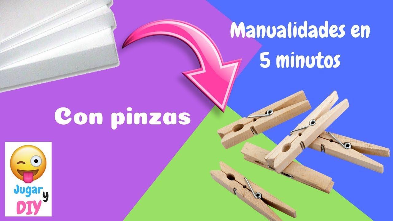 Ideas en 5 minutos con pinzas de tender la ropa