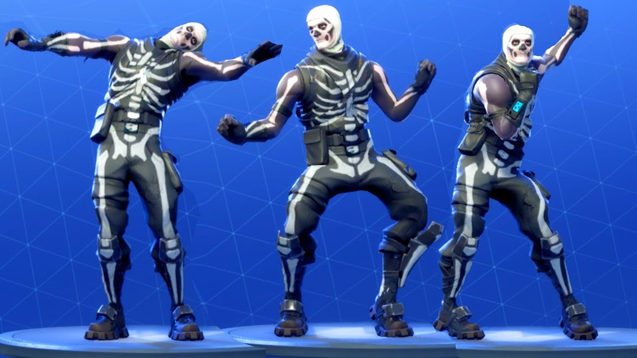 Fortnite Skull Trooper Performs All Dances All Season 1 4 Dance