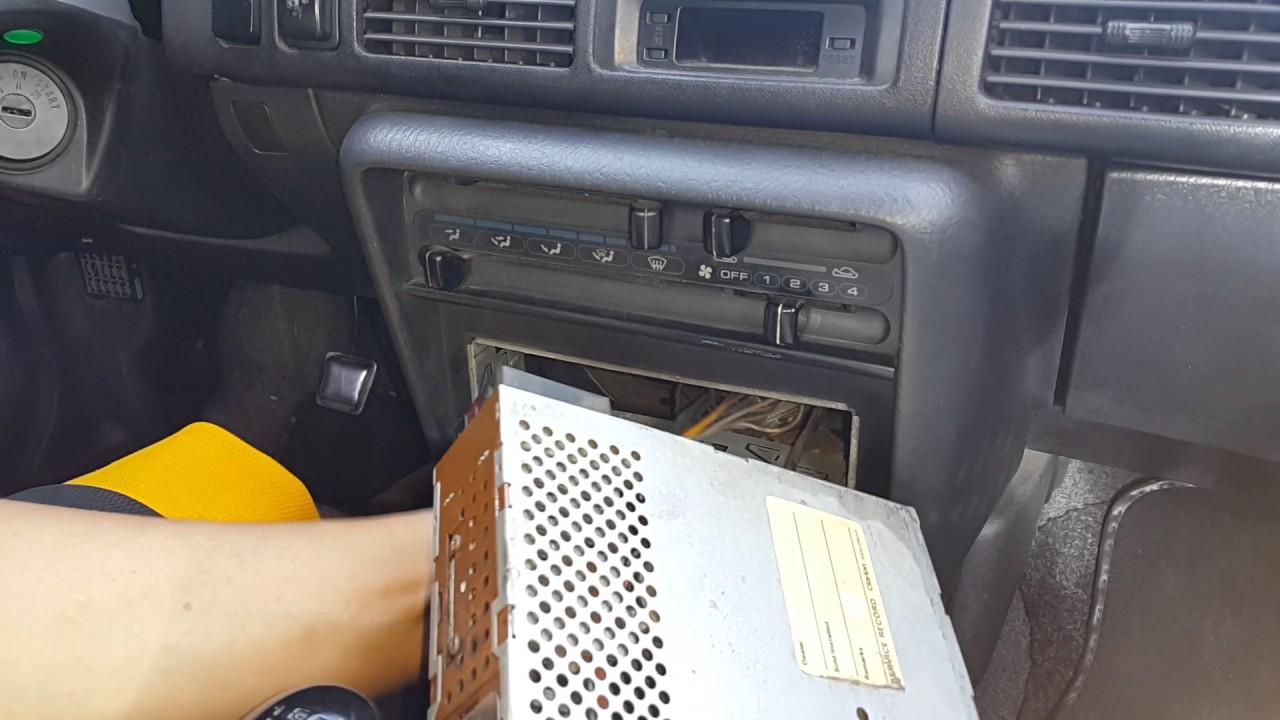 mazda 323 sedan familia car stereo removal [ 1280 x 720 Pixel ]