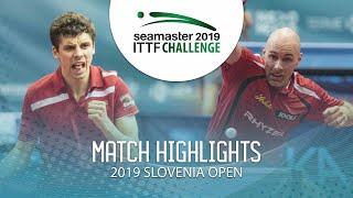Daniel Habesohn vs Jakub Dyjas   2019 ITTF Challenge Slovenia Open (1/2)