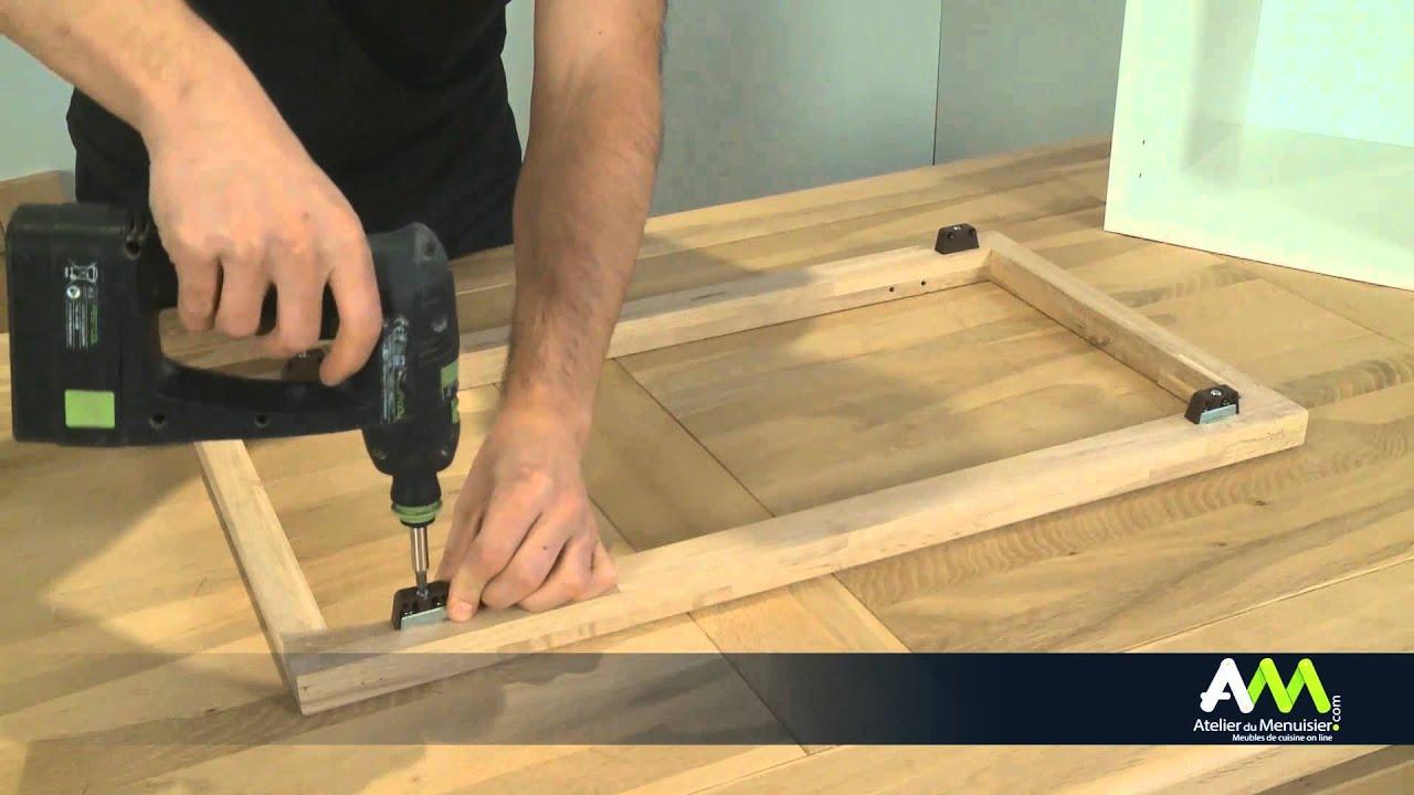 monter une facade de cuisine sur un meuble a cadre