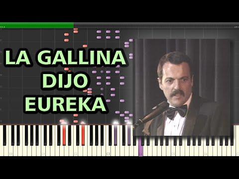 La Gallina dijo Eureka - Les Luthiers   Synthesia Piano Tutorial