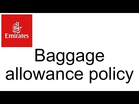 What Is Emirates Baggage Allowance & Baggage Policy? Travel FAQ & Help
