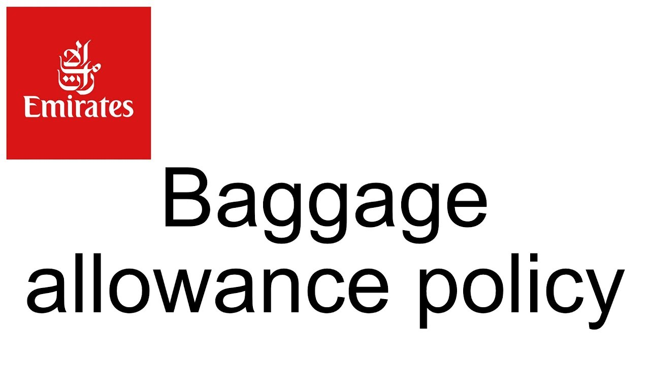 What Is Emirates Baggage Allowance Policy Travel Faq Help