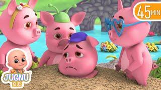 Choo Choo Train and piggy on the railway line | videos for kids | educating | Jugnu Kids