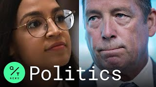 Republican Representative Ted Yoho (right) apologized for his .abrupt manner. in confronting Democrat Alexandria Ocasio-Cortez at the Capitol., From YouTubeVideos