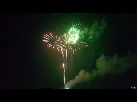 Bắn pháo hoa tại huyện quốc oai - hà nội đêm giao thừa 2016