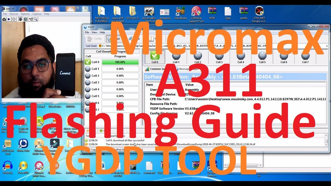 Micromax A311 Flashing Guide | Use of YGDP Tool in Hindi