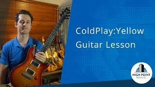 coldplay: yellow (guitar lesson) intermediate