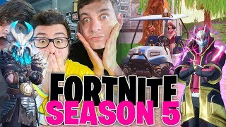 SEASON 5 FORTNITE ITA PRIME PARTITE! - New Map, Skins, Vehicles and Toys [REACTION]