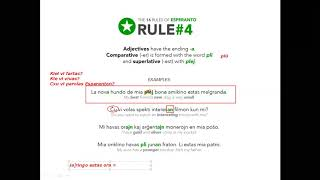 Corso di esperanto per italofoni. Lezione 10 (parte 1). 14/05/2020.