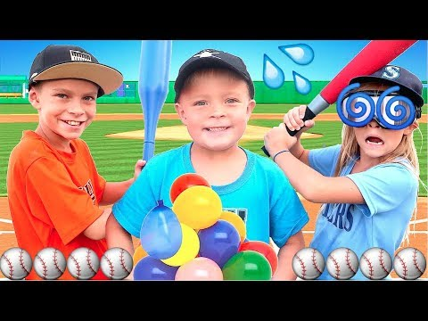 ⚾�Baseball Home Run Derby with Water Balloons and Dizzy Goggles!⚾�