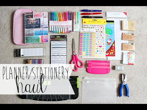 Planner & Stationery Haul (& GIVEAWAY WINNERS)